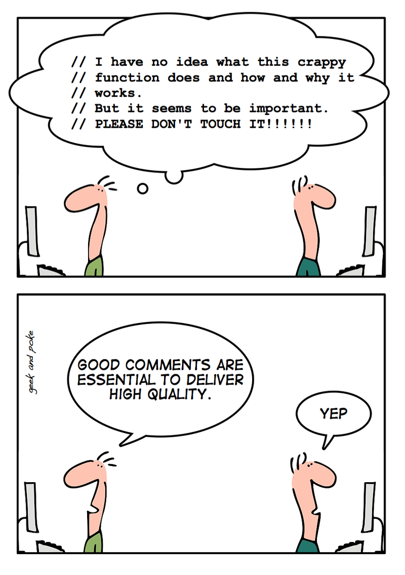 How to write good source code comments